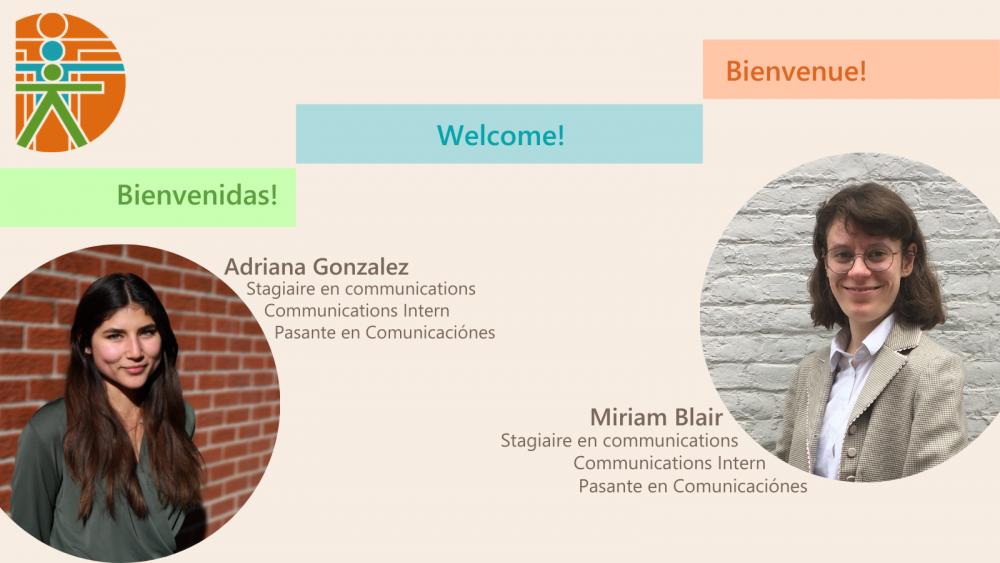 Le CIPC accueille deux nouvelles stagiaires en communication